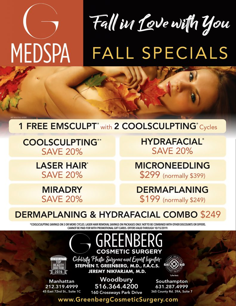 Fall specials at Greenberg Cosmetic Surgery